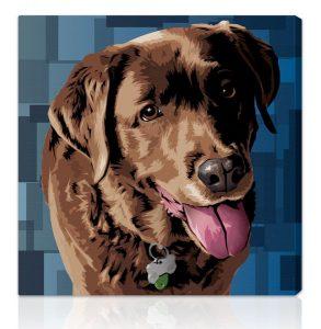 Canvas Dog Portrait