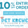 Pet Krewe: 10% off
