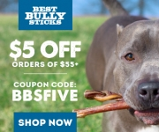 BestBullySticks.com: Get 5$ OFF orders of $55+