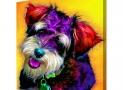 Customized Pop Art Dog Portrait